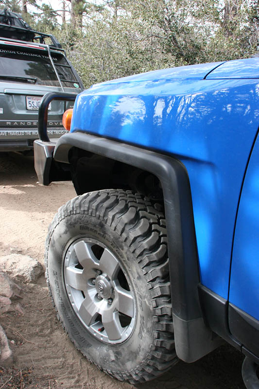 "The BFG M/T's look great on the FJ (shown with a 2"" lift)"
