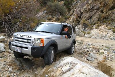 Ed navigates through the rock garden