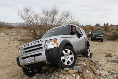 Ed enjoying the LR3's offroad ability