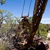 very cool old crane near the mining camp.