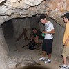 Inside the entrance to Two Hole Mine.  Chuck in the background, with 21 yr old Zack (white t-shirt) next two 9 yr old Trevor...  Must be a parallax thing going on with my lens.  Sorry Zack :-)