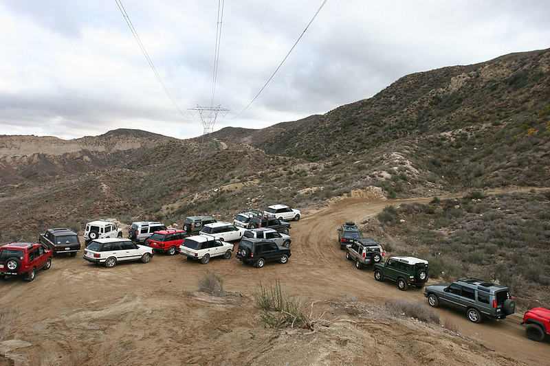 The staging area, about 2 miles up the trail near the powerline tower.