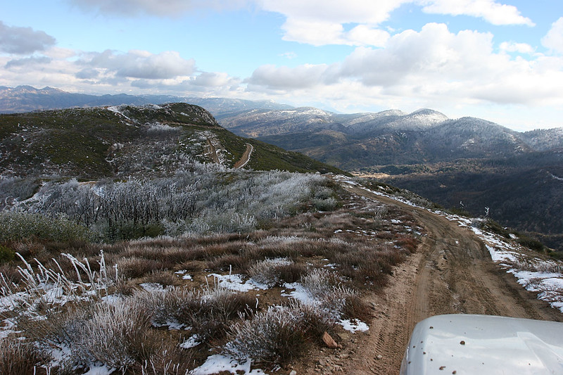 Looking east from on top of Cleghorn Ridge