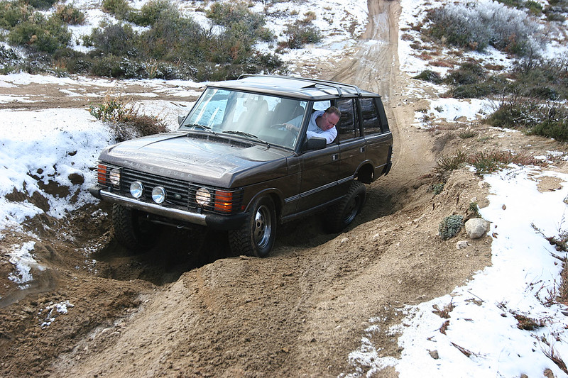 Jeff Tesdahl and his Range Rover Classic