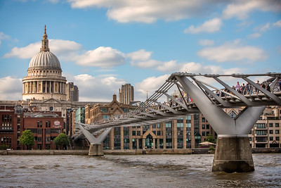 Millenium Bridge over the Thames