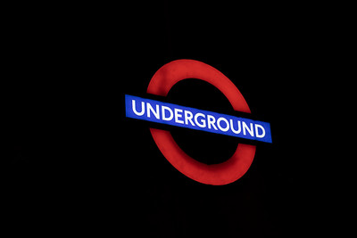 Underground sign at Embankment Station