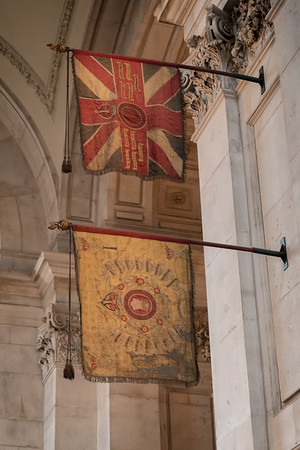 Historic flags inside St. Paul's Cathedral