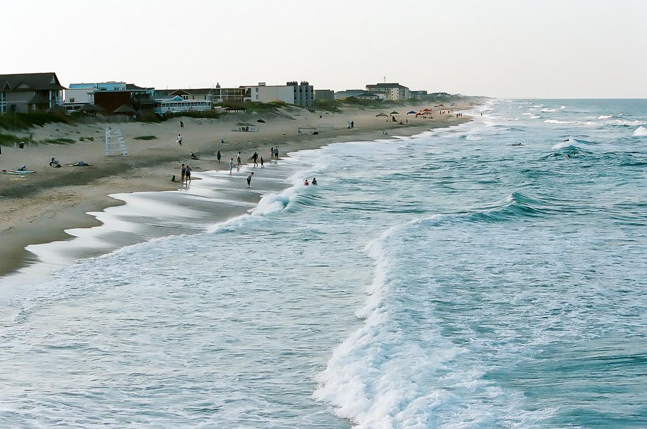 Looking down the beach. Kodak Portra. 2014.