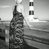 B&W conversion of Kristen looking at the Bodie Lighthouse. Digital, Aug 2014.