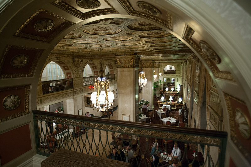 Inside the lobby of The Brown Hotel. Digital, 2014.
