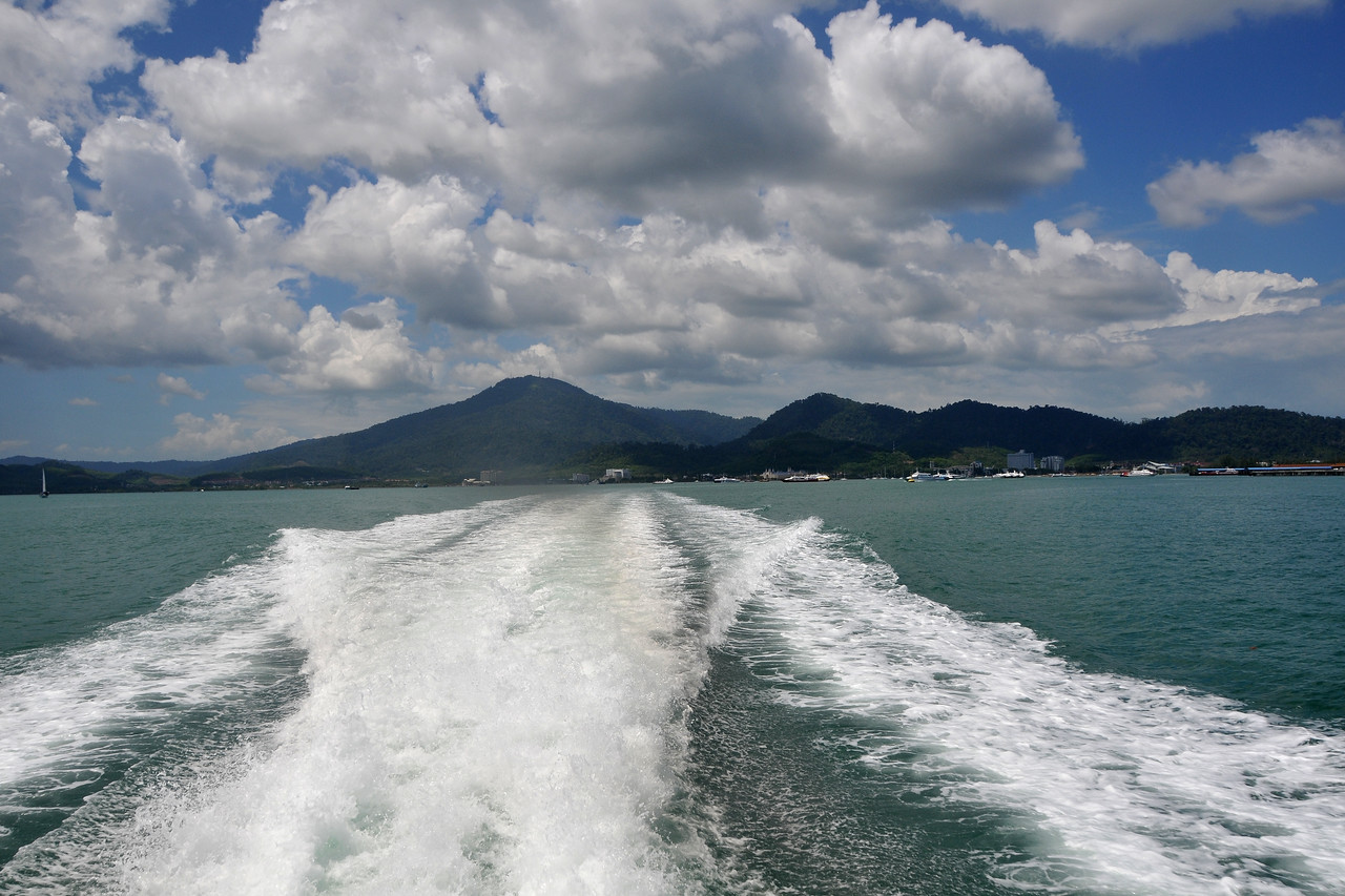 Took the ferry from Langkawi at Kuah jetty for Penang.