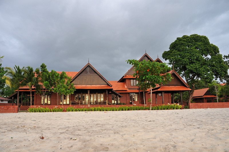 Beach and beach houses at Langkawi, Malaysia