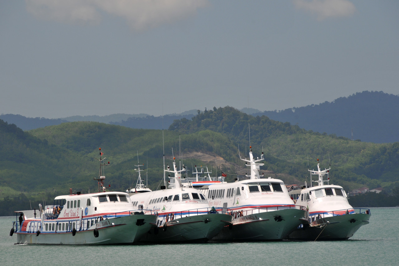 Kuah jetty where one can take the ferry boat to Penang and other places