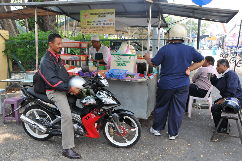 """Plenty of options for street food in Penang. Penang Famous Soya Cincau.<br /> Penang (pronounced /pəˈnæŋ/; (Malay: Pulau Pinang)) is a state in Malaysia which is located on the north-west coast of Peninsular Malaysia by the Strait of Malacca. The name """"Penang"""" comes from the modern Malay name Pulau Pinang, which means island of the betel nut tree. It is the second smallest state in Malaysia. Penang is often known as """"The Pearl of the Orient"""" and """"Pulau Pinang Pulau Mutiara"""" (Penang Island of Pearls)."""