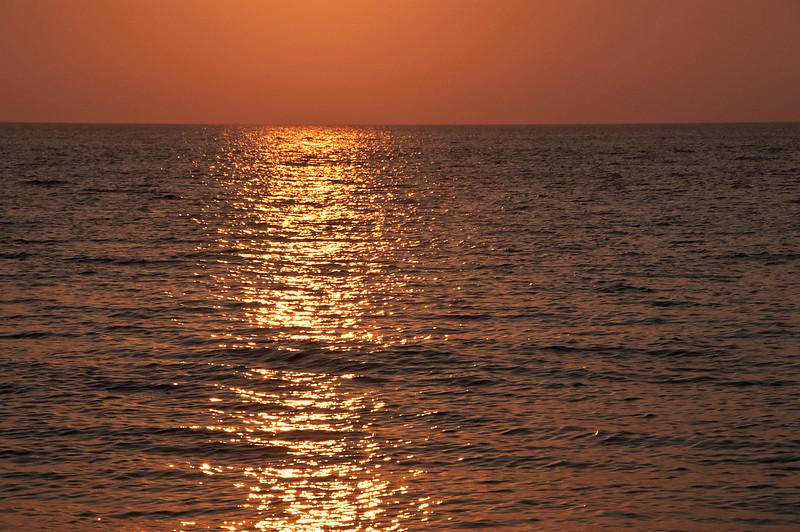 Sunrise reflection at Oak Bluffs