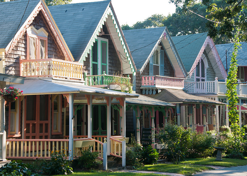 Pastel Houses at Camp Meeting