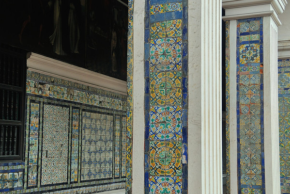 Beautiful tile in the cloister
