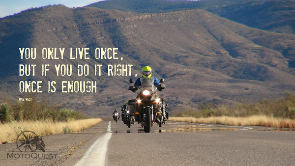 group riding back into the usa from mexico ona motoquest scout trip