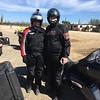 Karen & Howard from Alaska, riding a Harley
