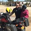 Jim & Brenda from Canada, riding a V-Strom