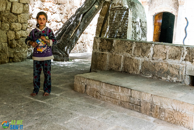 Yazidi girl in Lalish