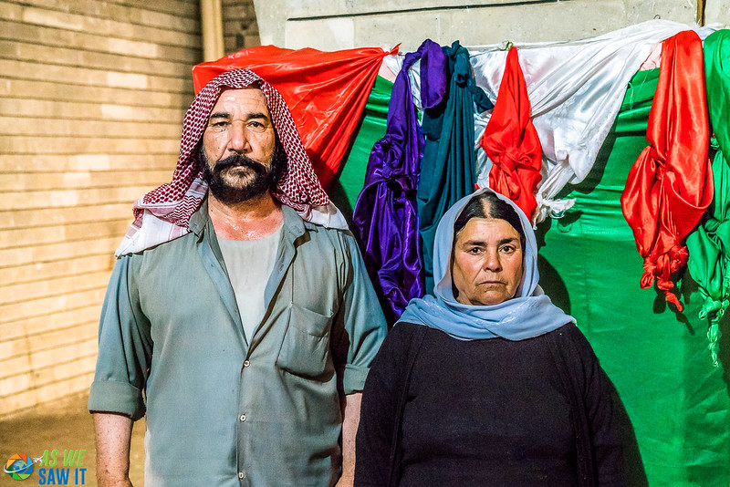A Yazidi couple we met in the Sanctuary