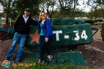 Dan and Linda with tank T-34