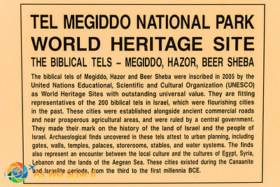 World Heritage Site - Megiddo