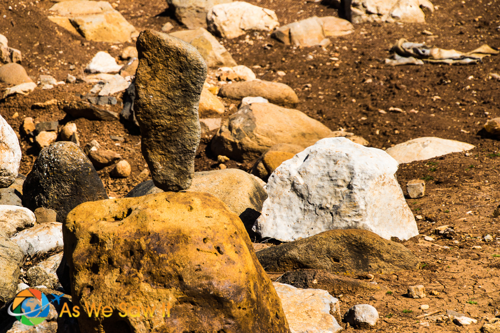 Stone stacking, a common symbol in Zen buddhism, is found at many ancient places of Ba'al worship even today. This stone stacking was found at the entrance to Tel Dan.