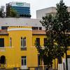 Bright yellow house at the end of Yochanan Ha'sandlar