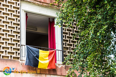 German flag along Tchernichovski