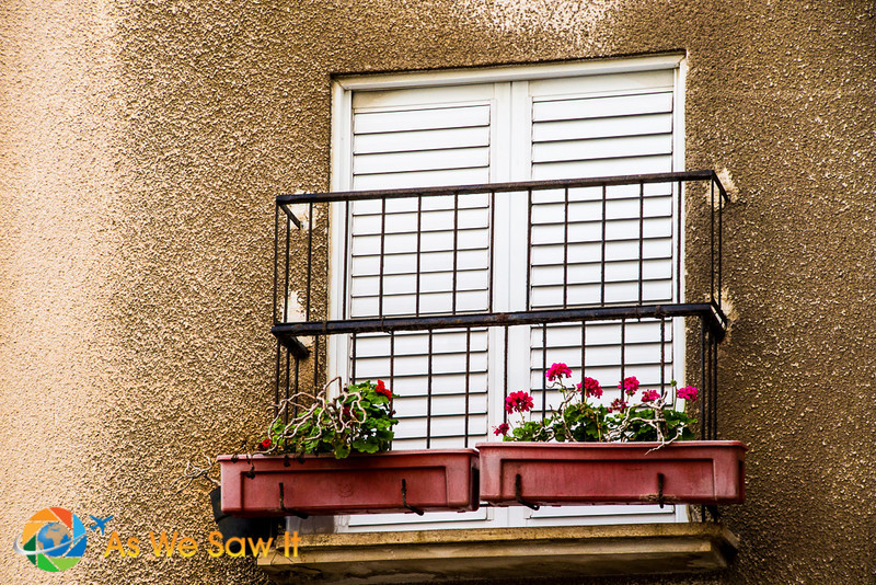 Juliet balcony with flower box