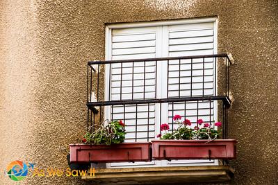 Juliet balcony with flower box