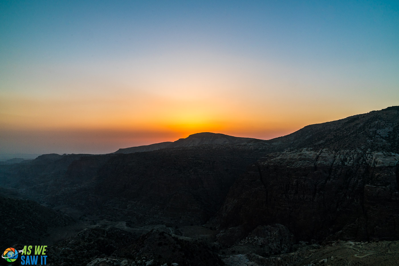 Sunset over Dana Wadi