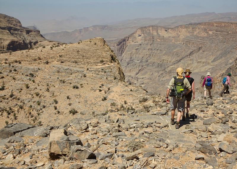Hiking on the plateau