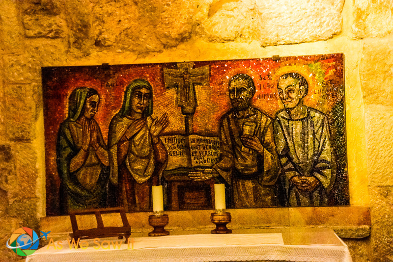 Altar in the Church of the Nativity grotto