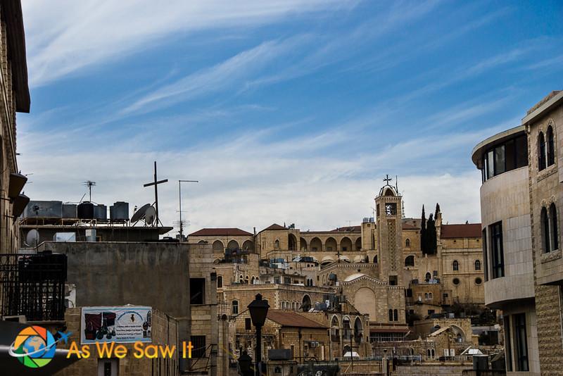 rooftops of buildings in Bethlehem