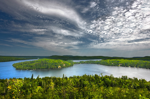 Lake Caribou, Lutsen, Minnesota, above the Superior Hiking Trail, #0058
