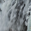 Frozen Minnehaha Falls close-up