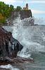 Crashing waves at the shores of Split Rock Lighthouse - Lake Superior, Minnesota:  #0039