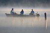 A misty morning for fishing on Snail Lake, Shoreview, Minnesota, #0055
