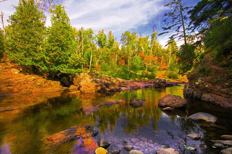 Temperance River south of Lutsen near Lake Superior, #0161
