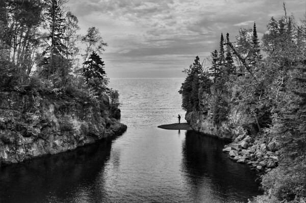 Mouth of the Temperance River, south of Lutsen, Minnesota, #0162