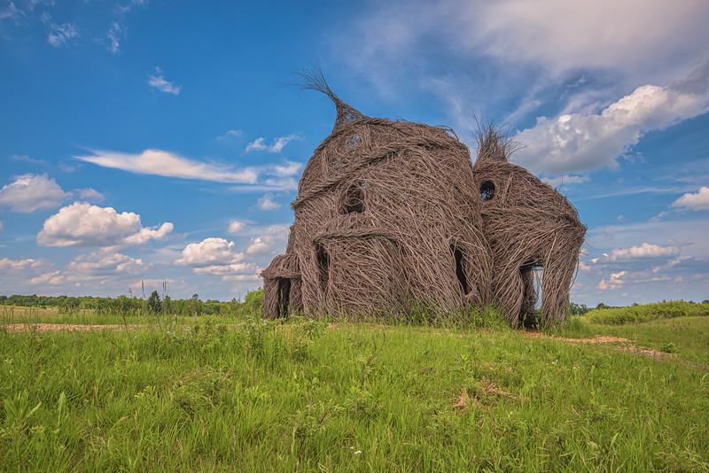 Lean on Me (Monk's Cradle) on the prairie