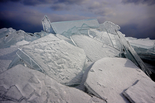 Plate ice on Lake Superior, #0179