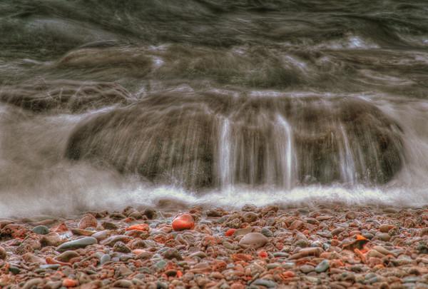 Shoreline rocks on the Northshore, Lake Superior, #0067