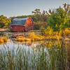 Falling in the water barn landscape
