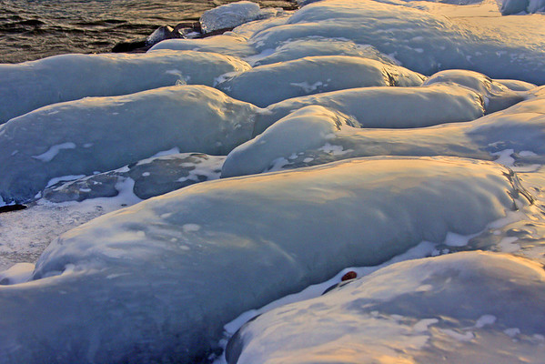 Ice on Lake Superior, #0173