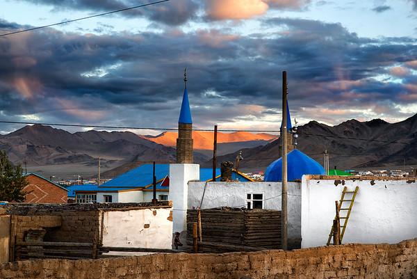 Mosque in Olgii, Western Mongolia, 2015.