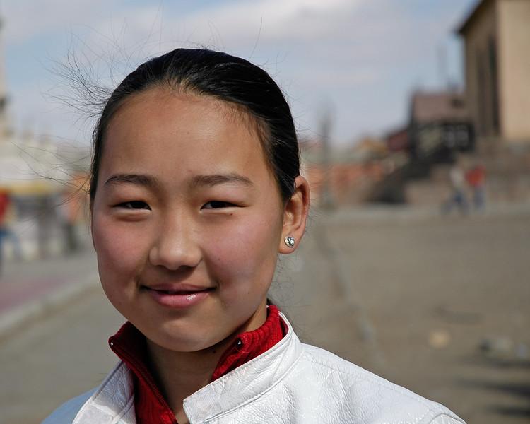 Mongolian children at the monastary housing Megjid Janraisag, UB, Ulaan Baator, Mongolia